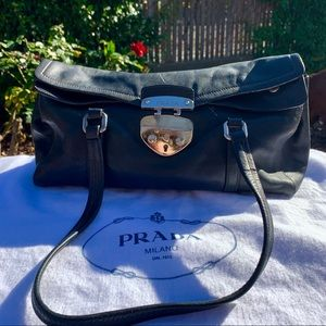 Gorgeous black lamb skin Prada satchel! 🎩